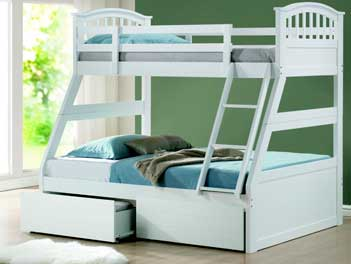 Joseph Polo Three 3 Sleeper Bunk Bed Polar White