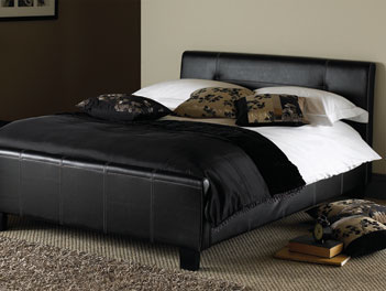 Hyder Boston Double Bed Frame in Brown - 4ft6 4'6''