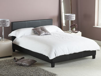 Hyder Kingston Double Bed Frame in Black