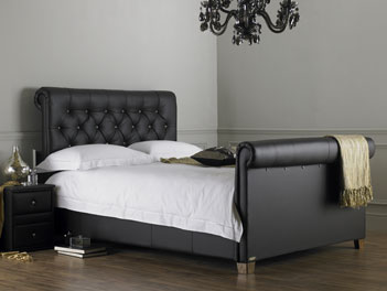 Hyder Lyon Double Bed Frame in Brown