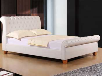 Joseph Sooma King Size Bed Frame in White - 5ft 5'0''